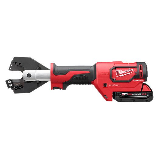 The Milwaukee The M18™ FORCE LOGIC™ CABLE CUTTER KIT with 750 MCM Cu/Al Jaws