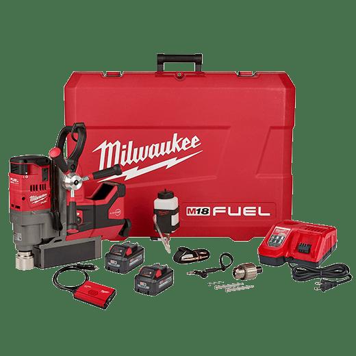 "Milwaukee M18 FUEL 1-1/2"" LINEMAN MAGNETIC DRILL HIGH DEMAND KIT"