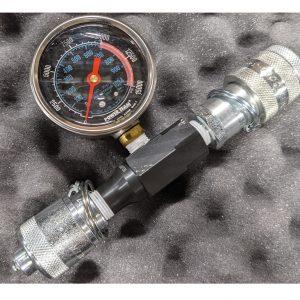 in line hydraulic gauge